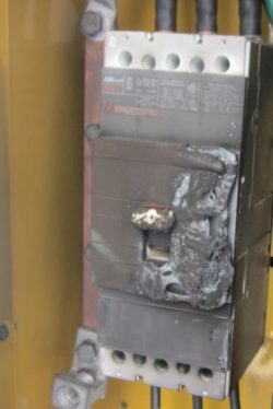 An image of an overheated breaker